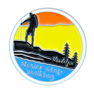 Never stop walking | Wandelpin